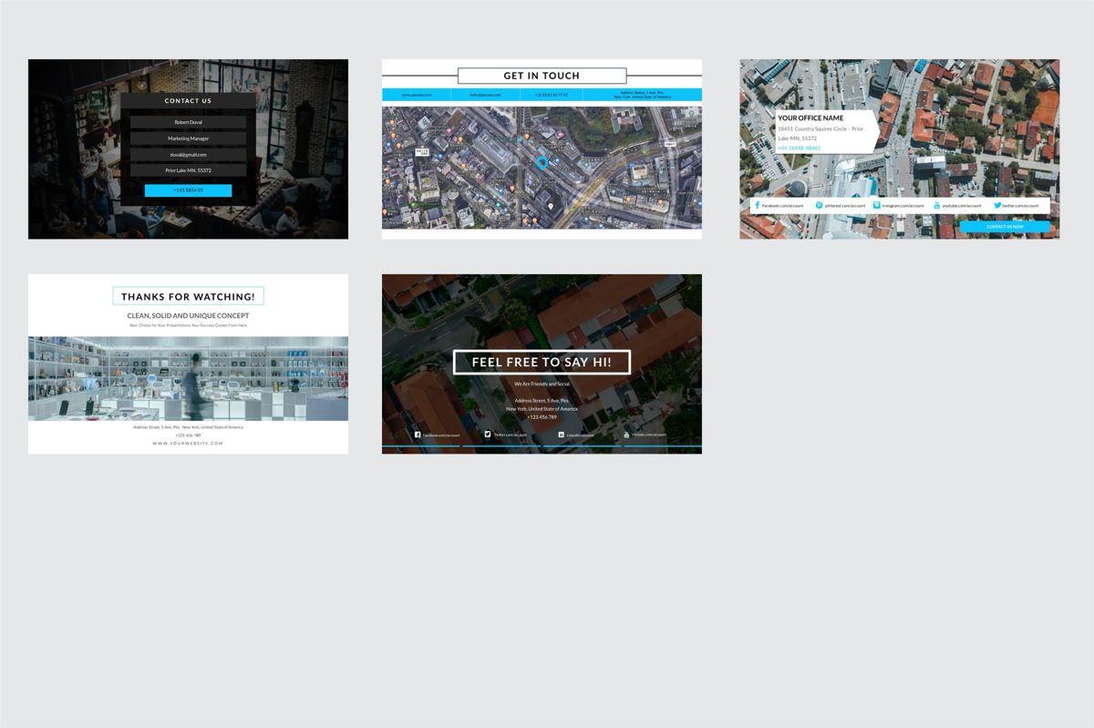 Arca Contact Us Presentation Templates, Slide 4, 06611, Icons — PoweredTemplate.com