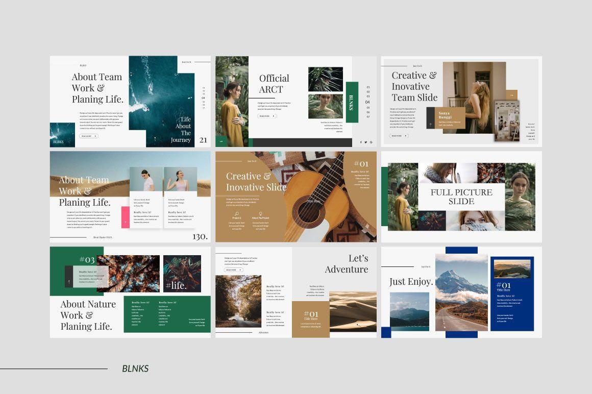 BLNKS Business Google Slide, 06612, Presentation Templates — PoweredTemplate.com