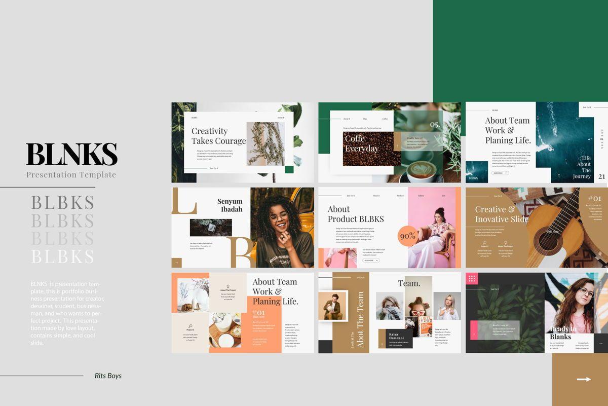 BLNKS Business Google Slide, Slide 2, 06612, Presentation Templates — PoweredTemplate.com