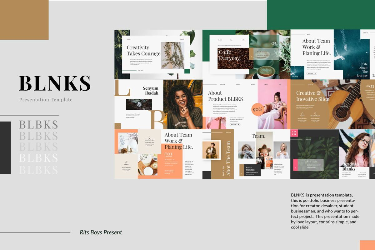 BLNKS Business Powerpoint, Slide 8, 06614, Presentation Templates — PoweredTemplate.com