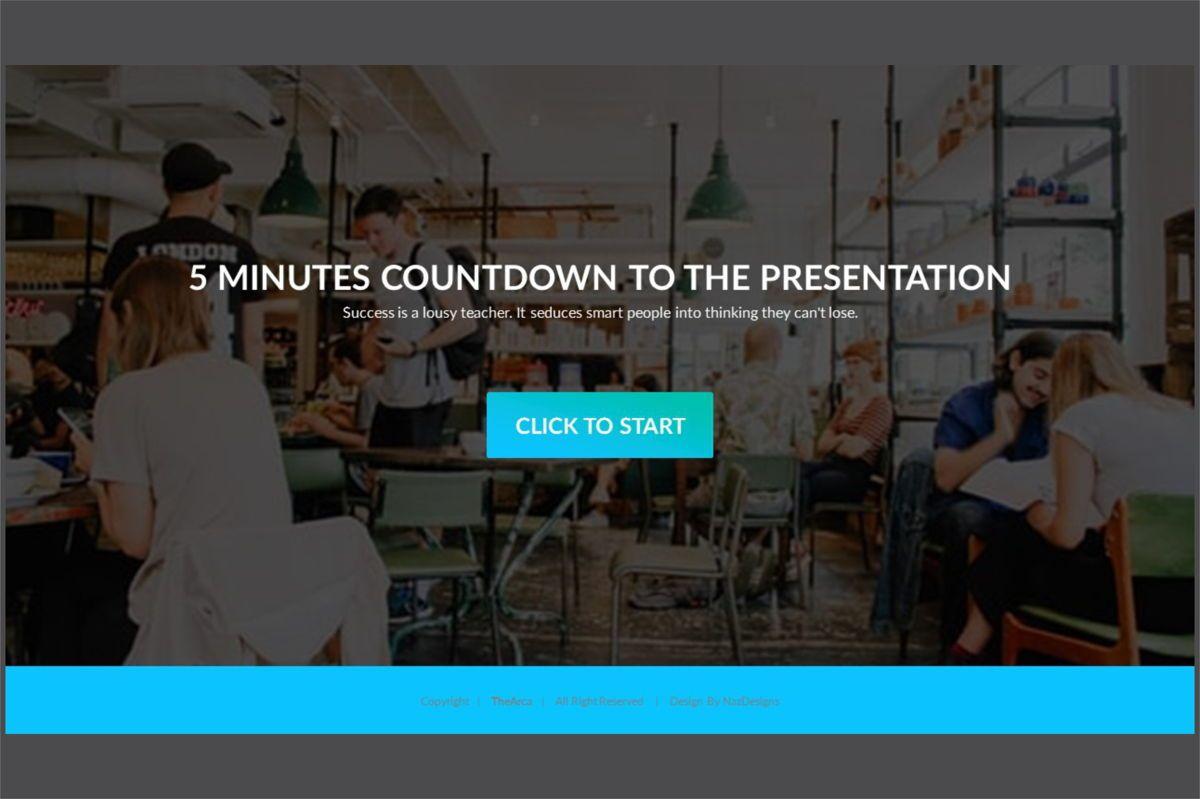 Arca Countdown to Presentation Type 01, Slide 2, 06618, Presentation Templates — PoweredTemplate.com