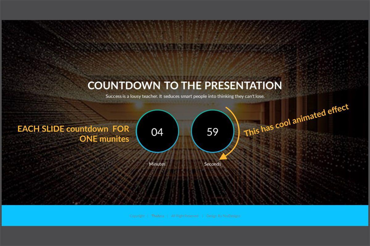 Arca Countdown to Presentation Type 01, Slide 3, 06618, Presentation Templates — PoweredTemplate.com