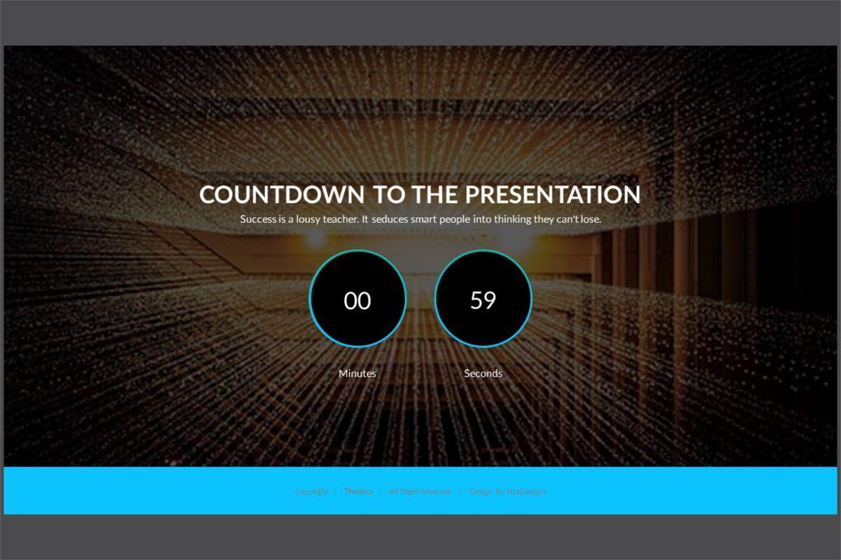 Arca Countdown to Presentation Type 01, Slide 4, 06618, Presentation Templates — PoweredTemplate.com
