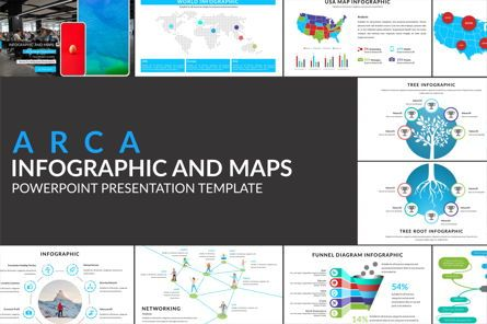 Business Models: Arca Infographic and Maps Presentation Template #06622