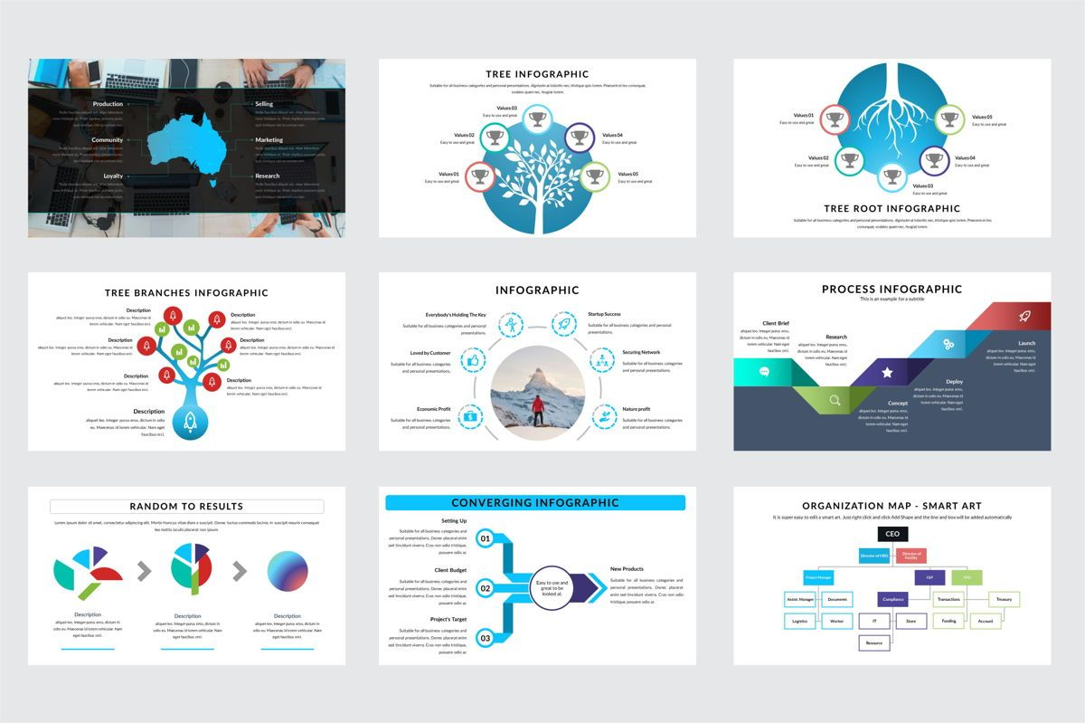 Arca Infographic and Maps Presentation Template, Deslizar 3, 06622, Modelos de Negócio — PoweredTemplate.com