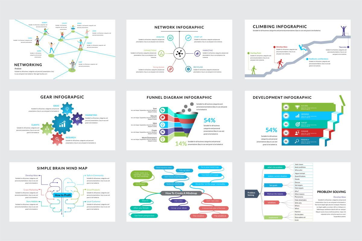 Arca Infographic and Maps Presentation Template, Deslizar 4, 06622, Modelos de Negócio — PoweredTemplate.com