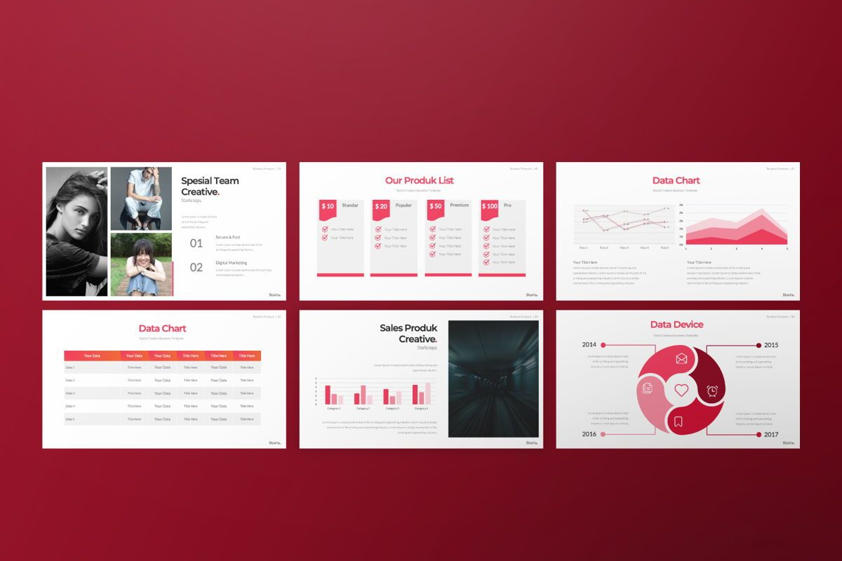 Starla Business Google Slide, Slide 6, 06625, Presentation Templates — PoweredTemplate.com