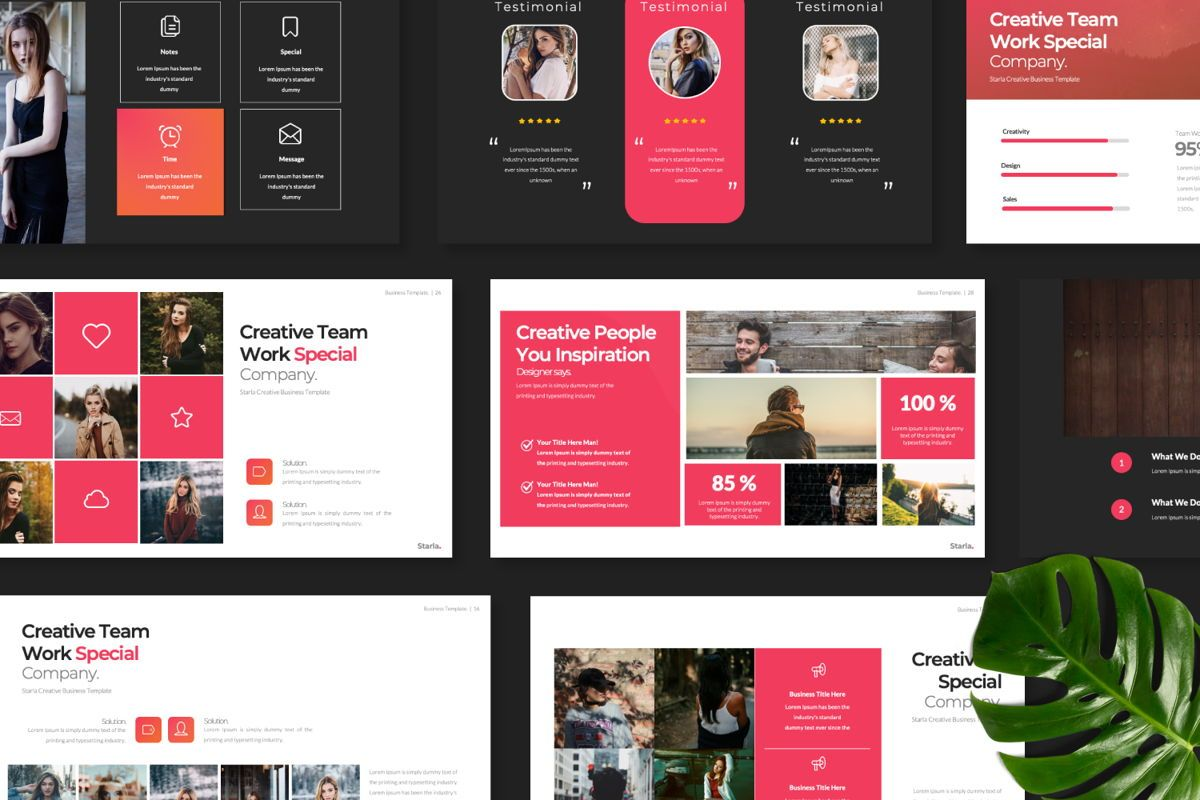 Starla Business Google Slide, Slide 9, 06625, Presentation Templates — PoweredTemplate.com
