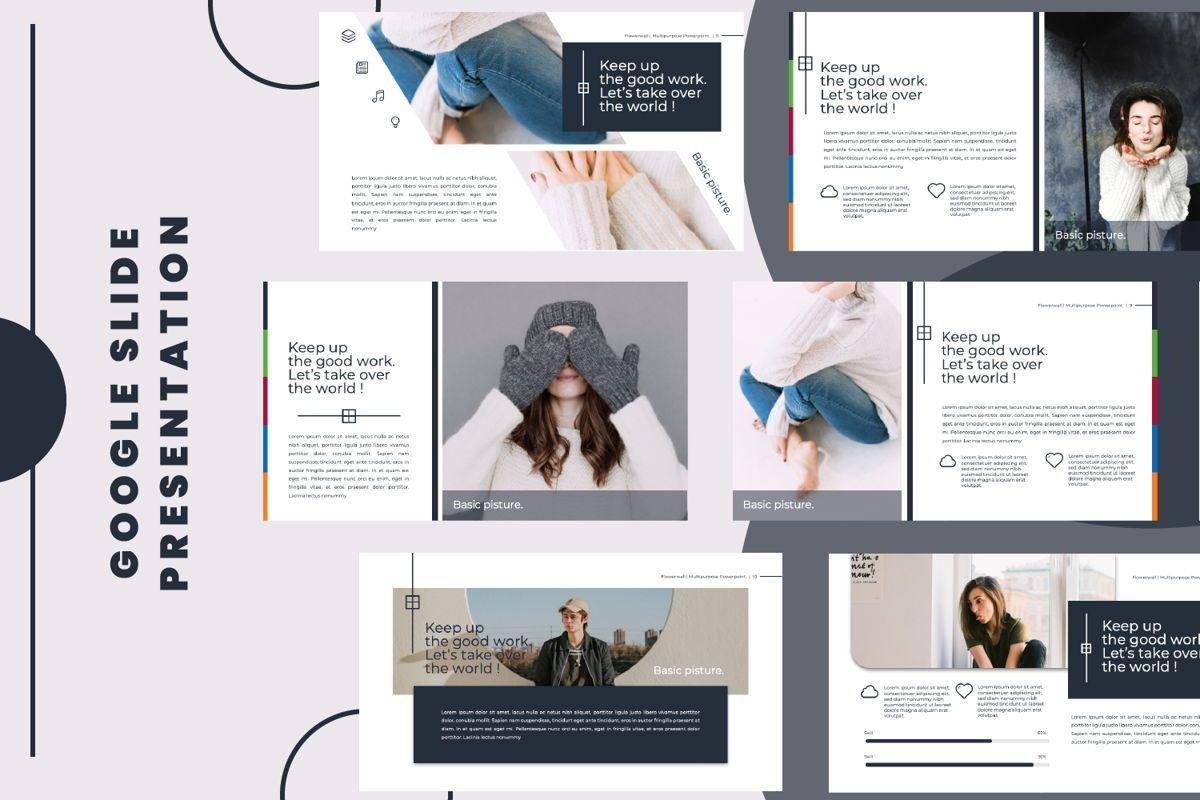 Flowerwall Business Google Slide, 06627, Presentation Templates — PoweredTemplate.com