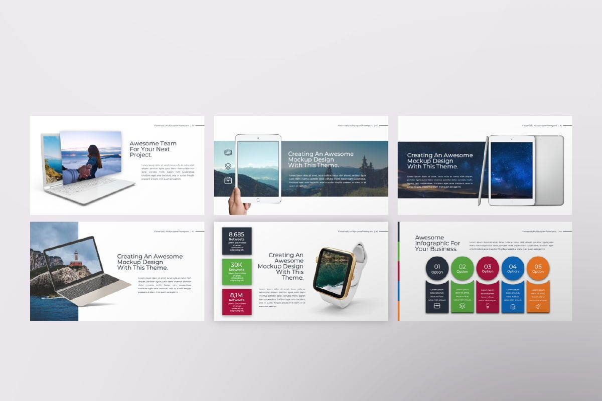 Flowerwall Business Google Slide, Slide 7, 06627, Presentation Templates — PoweredTemplate.com