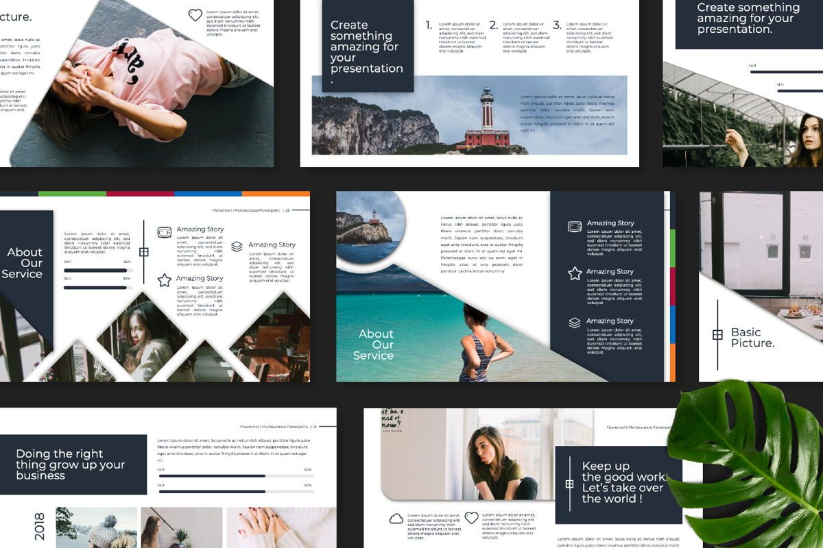 Flowerwall Business Google Slide, Slide 8, 06627, Presentation Templates — PoweredTemplate.com