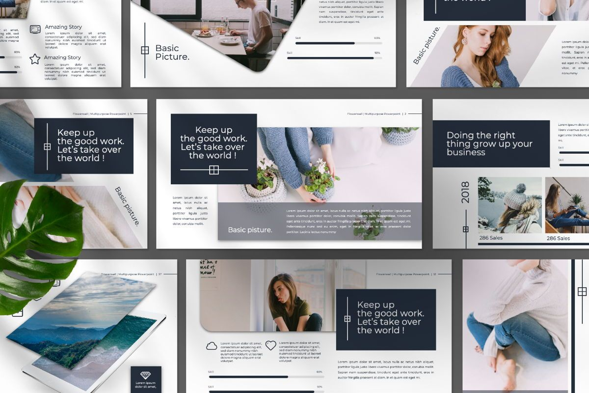 Flowerwall Business Google Slide, Slide 9, 06627, Presentation Templates — PoweredTemplate.com
