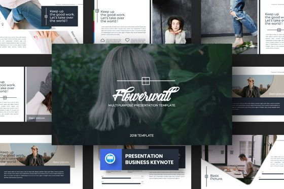 Presentation Templates: Flowerwall Business Keynote #06628