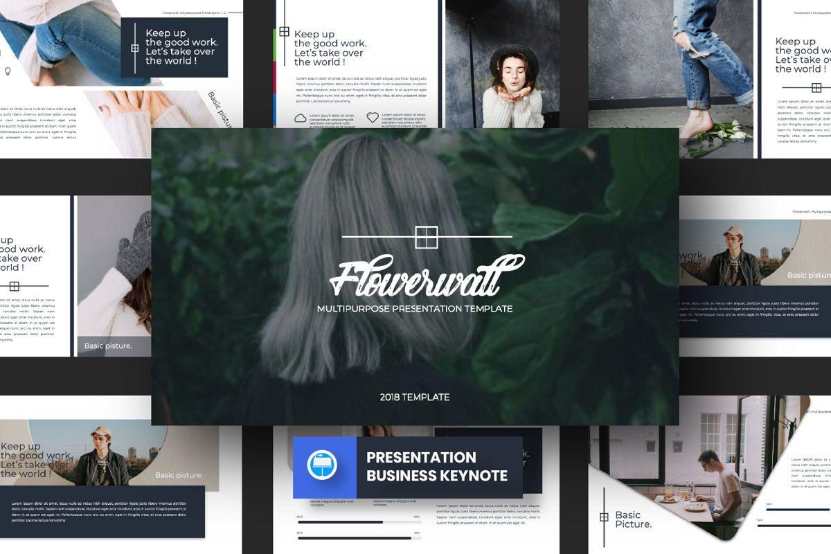 Flowerwall Business Keynote, 06628, Presentation Templates — PoweredTemplate.com