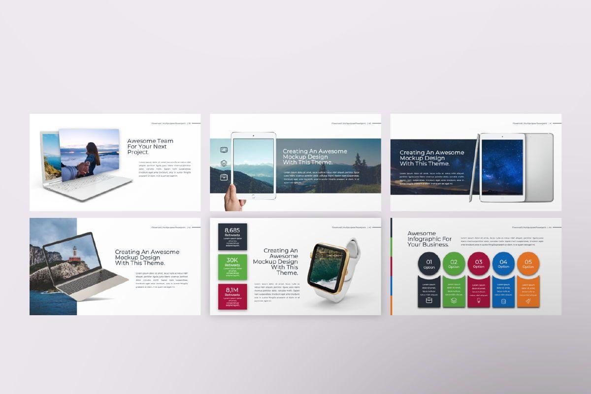 Flowerwall Business Keynote, Slide 7, 06628, Presentation Templates — PoweredTemplate.com