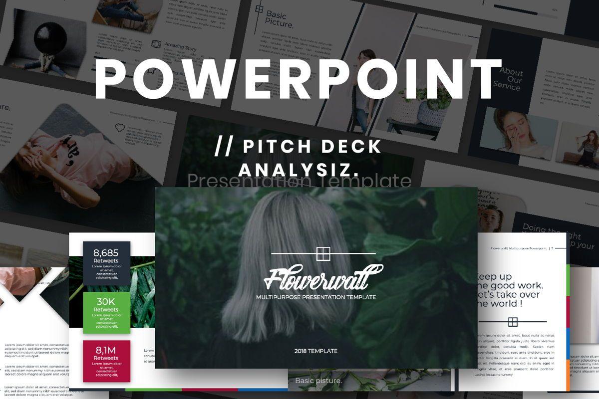 Flowerwall Business Powerpoint, 06629, Presentation Templates — PoweredTemplate.com