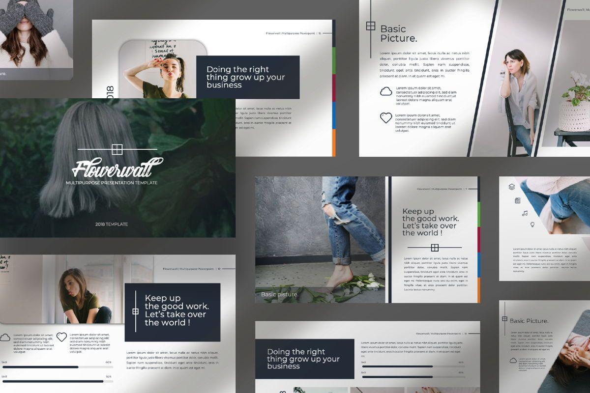 Flowerwall Business Powerpoint, Slide 10, 06629, Presentation Templates — PoweredTemplate.com