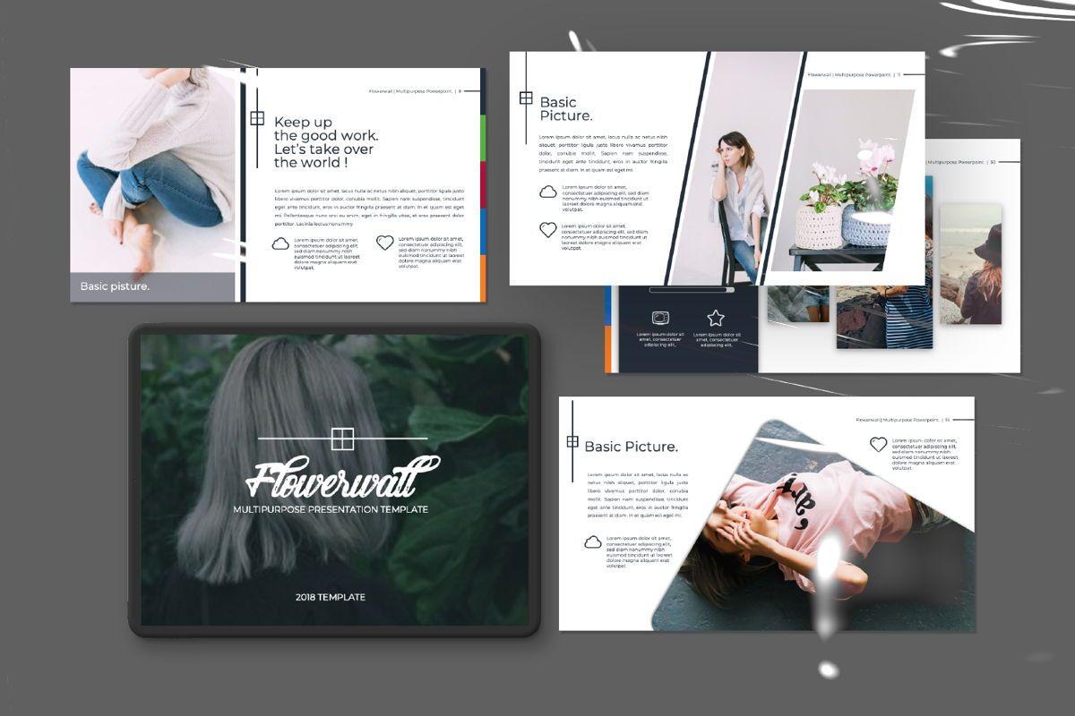 Flowerwall Business Powerpoint, Slide 11, 06629, Presentation Templates — PoweredTemplate.com