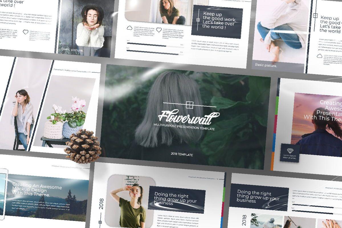 Flowerwall Business Powerpoint, Slide 12, 06629, Presentation Templates — PoweredTemplate.com
