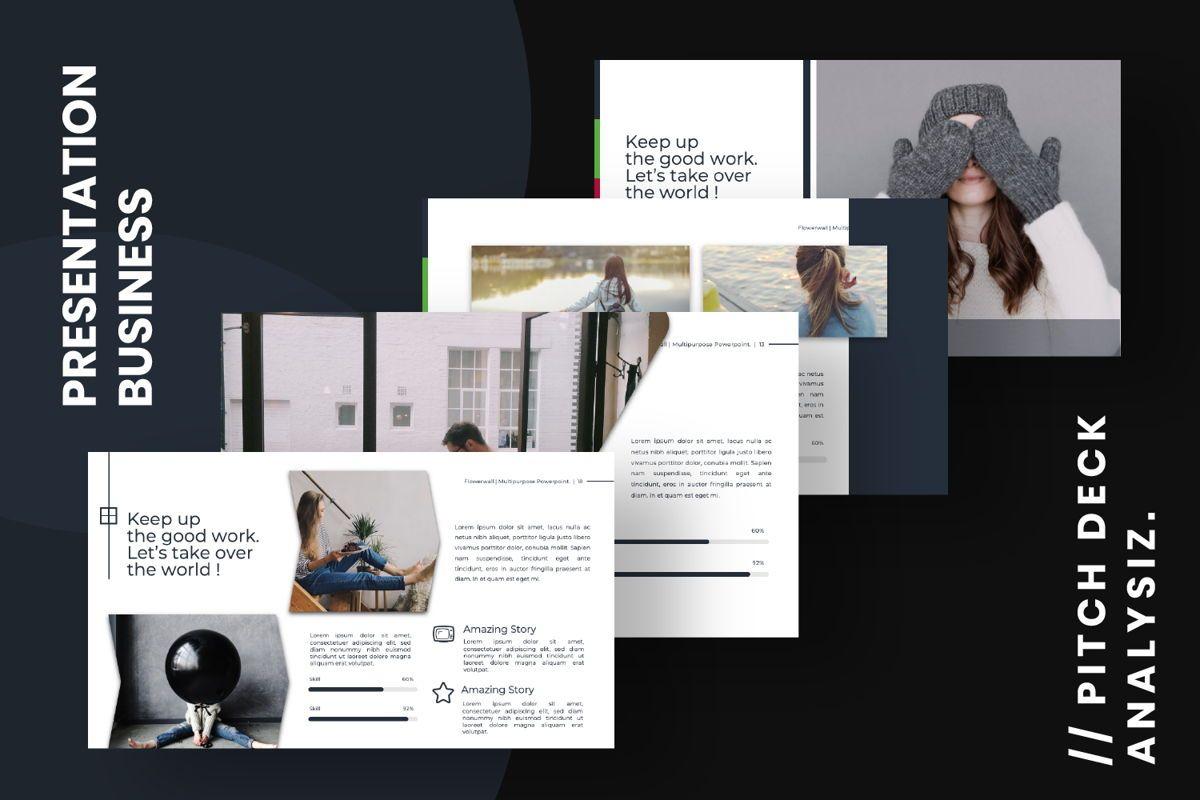 Flowerwall Business Powerpoint, Slide 13, 06629, Presentation Templates — PoweredTemplate.com