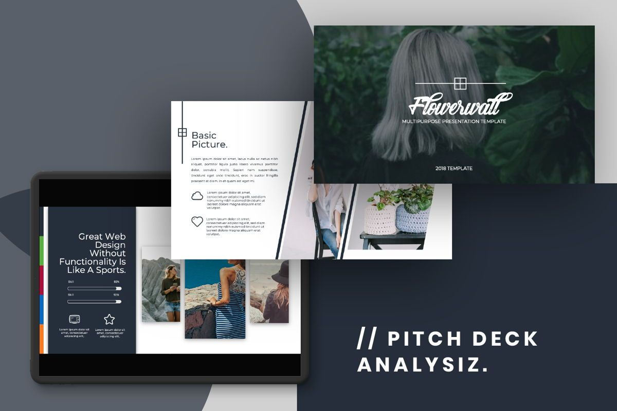 Flowerwall Business Powerpoint, Slide 14, 06629, Presentation Templates — PoweredTemplate.com