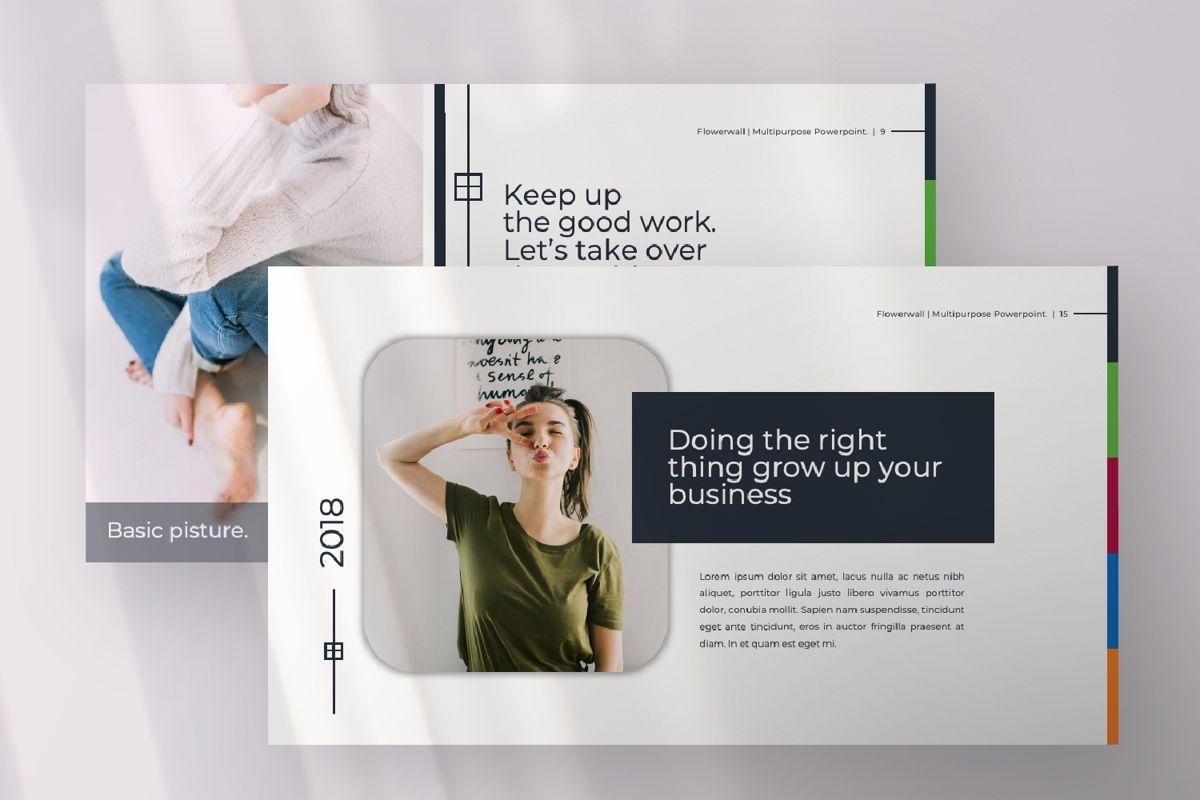 Flowerwall Business Powerpoint, Slide 5, 06629, Presentation Templates — PoweredTemplate.com