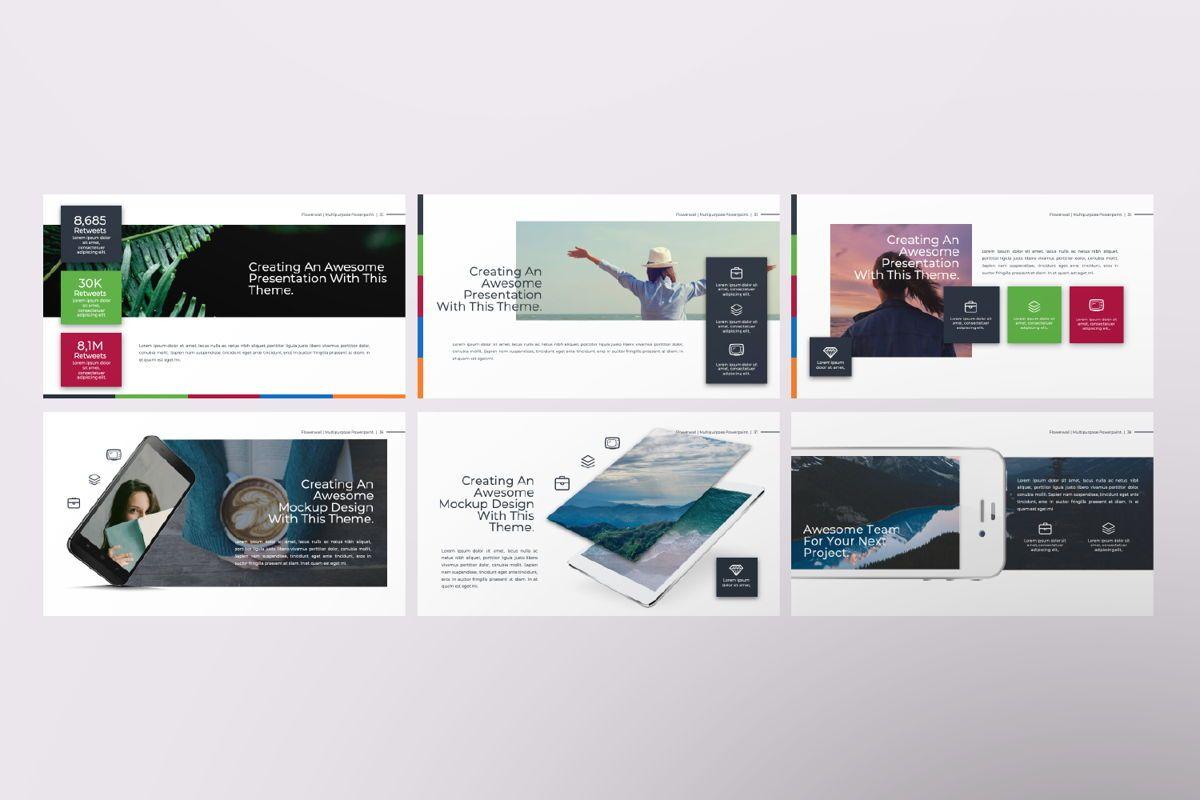 Flowerwall Business Powerpoint, Slide 6, 06629, Presentation Templates — PoweredTemplate.com