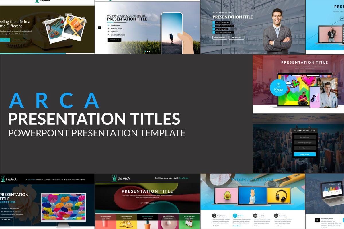 Arca Presentation Title Templates, 06630, Presentation Templates — PoweredTemplate.com