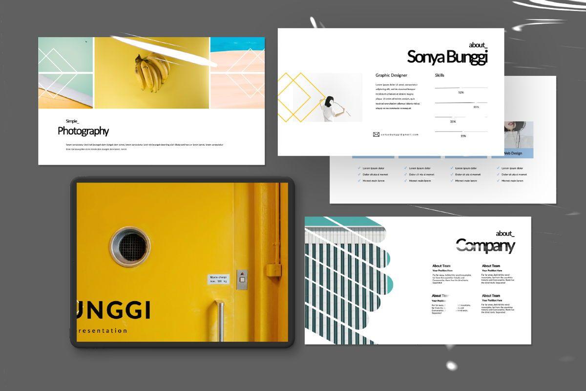 Bunggi Minimal Google Slide, Slide 11, 06631, Presentation Templates — PoweredTemplate.com