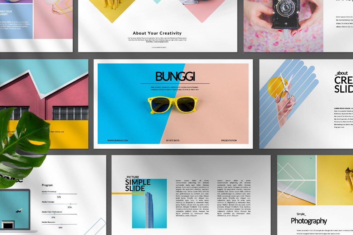Bunggi Minimal Google Slide, Slide 9, 06631, Presentation Templates — PoweredTemplate.com