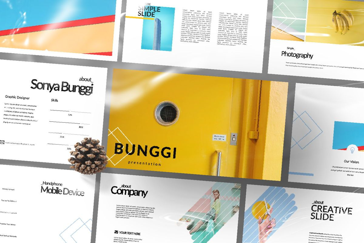 Bunggi Minimal Keynote, Slide 12, 06632, Presentation Templates — PoweredTemplate.com