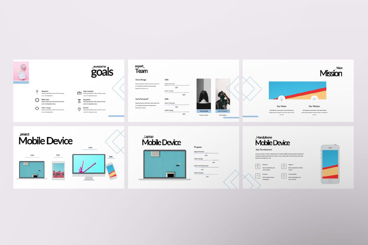 Bunggi Minimal Keynote, Slide 6, 06632, Presentation Templates — PoweredTemplate.com