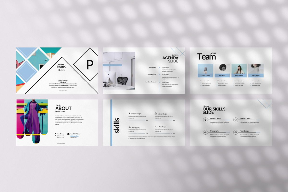 Bunggi Minimal Powerpoint, Slide 4, 06633, Presentation Templates — PoweredTemplate.com