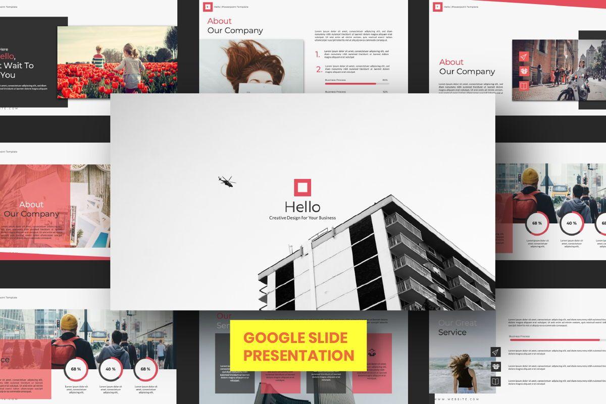 Hello Creative Google Slide, 06634, Presentation Templates — PoweredTemplate.com