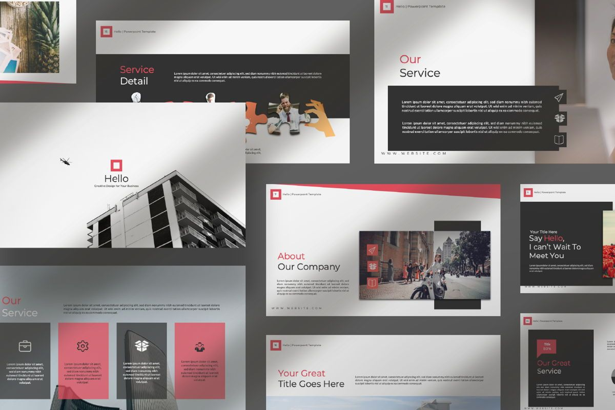 Hello Creative Google Slide, Slide 10, 06634, Presentation Templates — PoweredTemplate.com