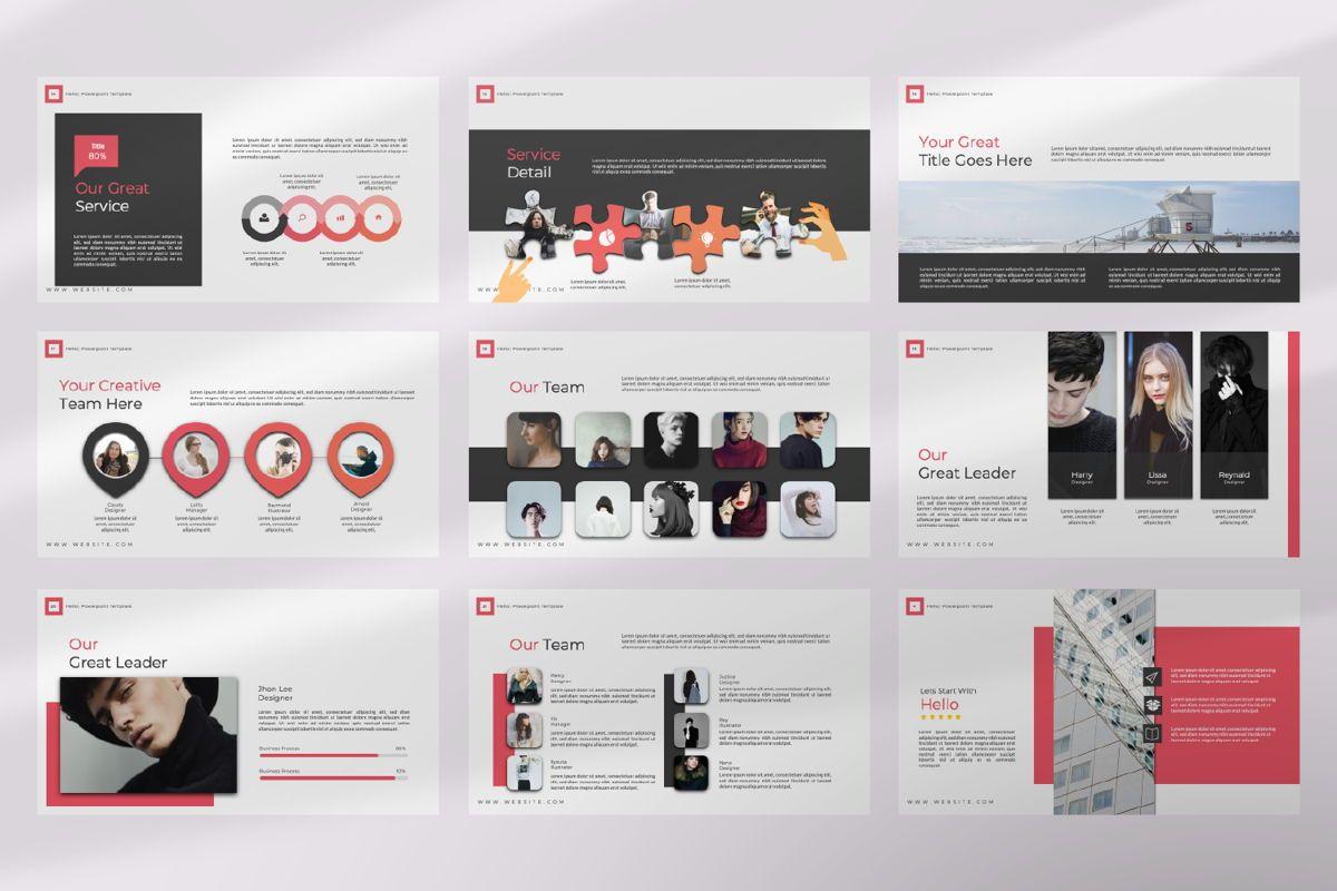 Hello Creative Google Slide, Slide 3, 06634, Presentation Templates — PoweredTemplate.com