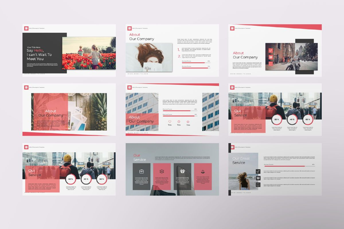 Hello Creative Keynote, Slide 2, 06635, Presentation Templates — PoweredTemplate.com