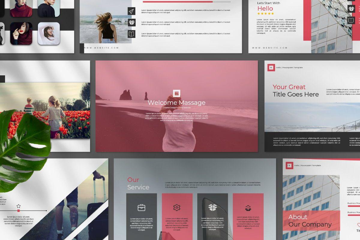 Hello Creative Keynote, Slide 9, 06635, Presentation Templates — PoweredTemplate.com