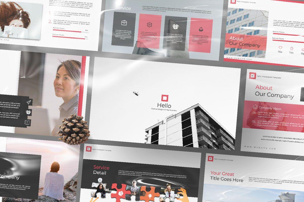 Hello Creative Powerpoint, Slide 12, 06636, Presentation Templates — PoweredTemplate.com
