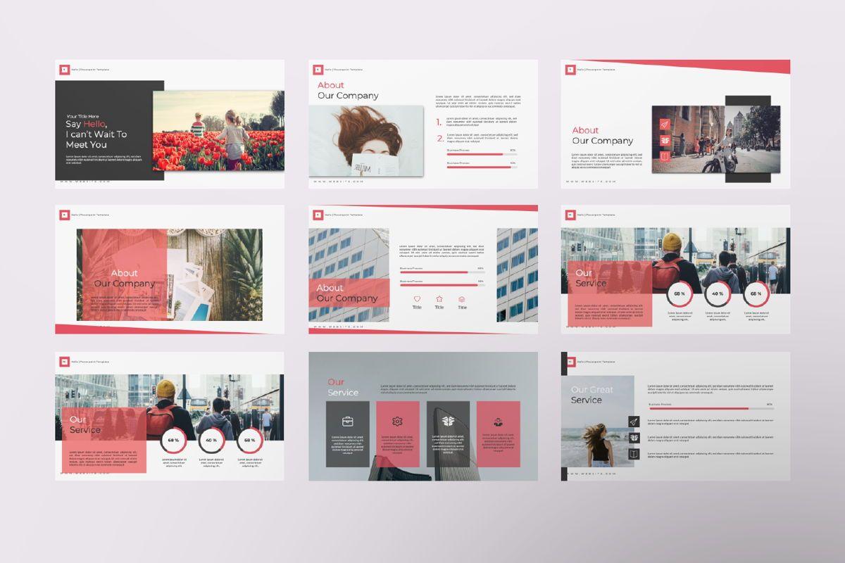 Hello Creative Powerpoint, Slide 2, 06636, Presentation Templates — PoweredTemplate.com