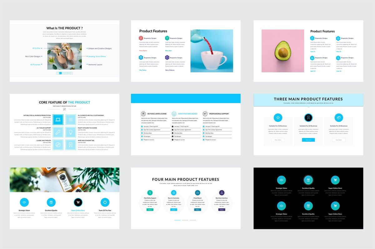 Arca Product Feature and Pricing Presentation Template, Slide 3, 06637, Presentation Templates — PoweredTemplate.com