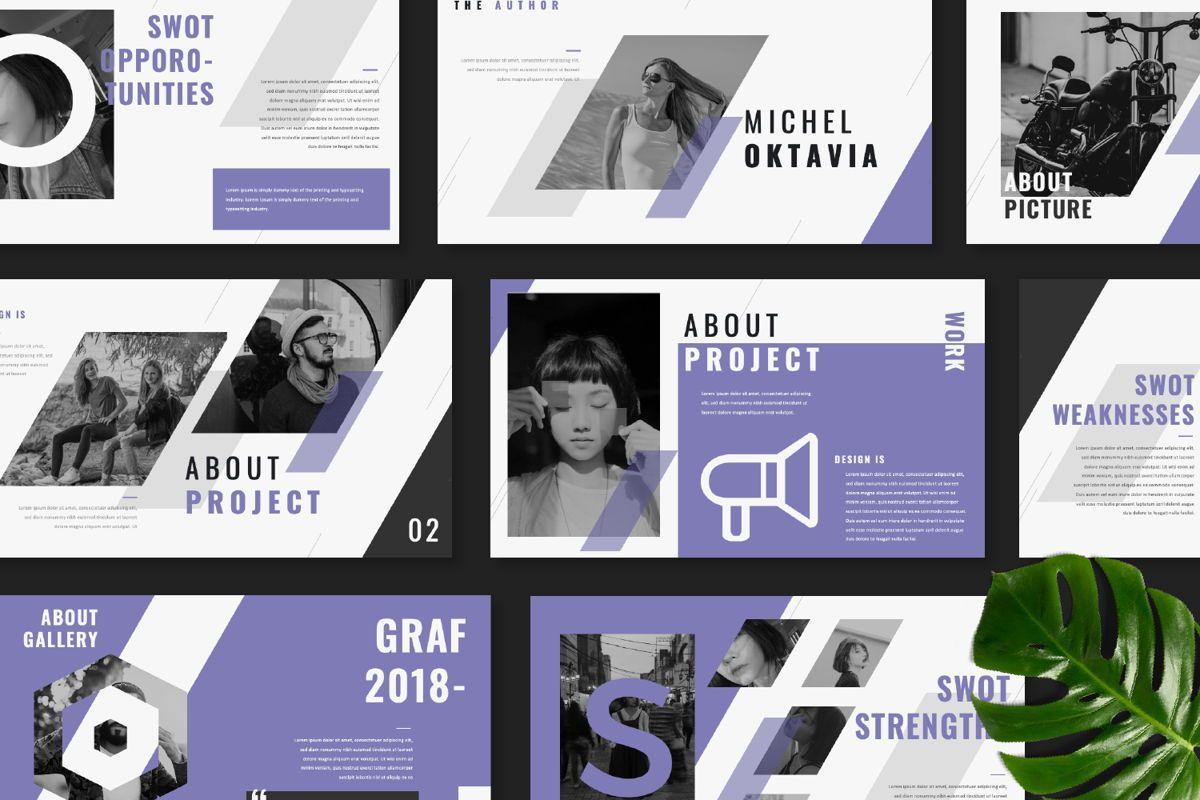 Graf Business Powerpoint, Slide 8, 06640, Presentation Templates — PoweredTemplate.com