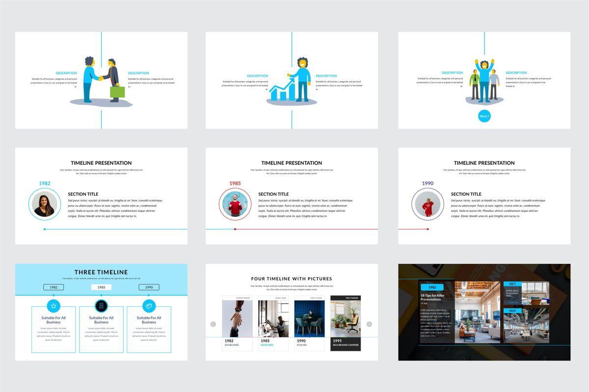 Arca Timeline and History Presentation Template, Slide 6, 06641, Flow Charts — PoweredTemplate.com