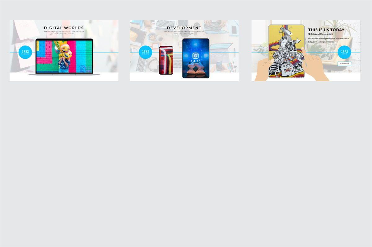 Arca Timeline and History Presentation Template, Slide 7, 06641, Flow Charts — PoweredTemplate.com