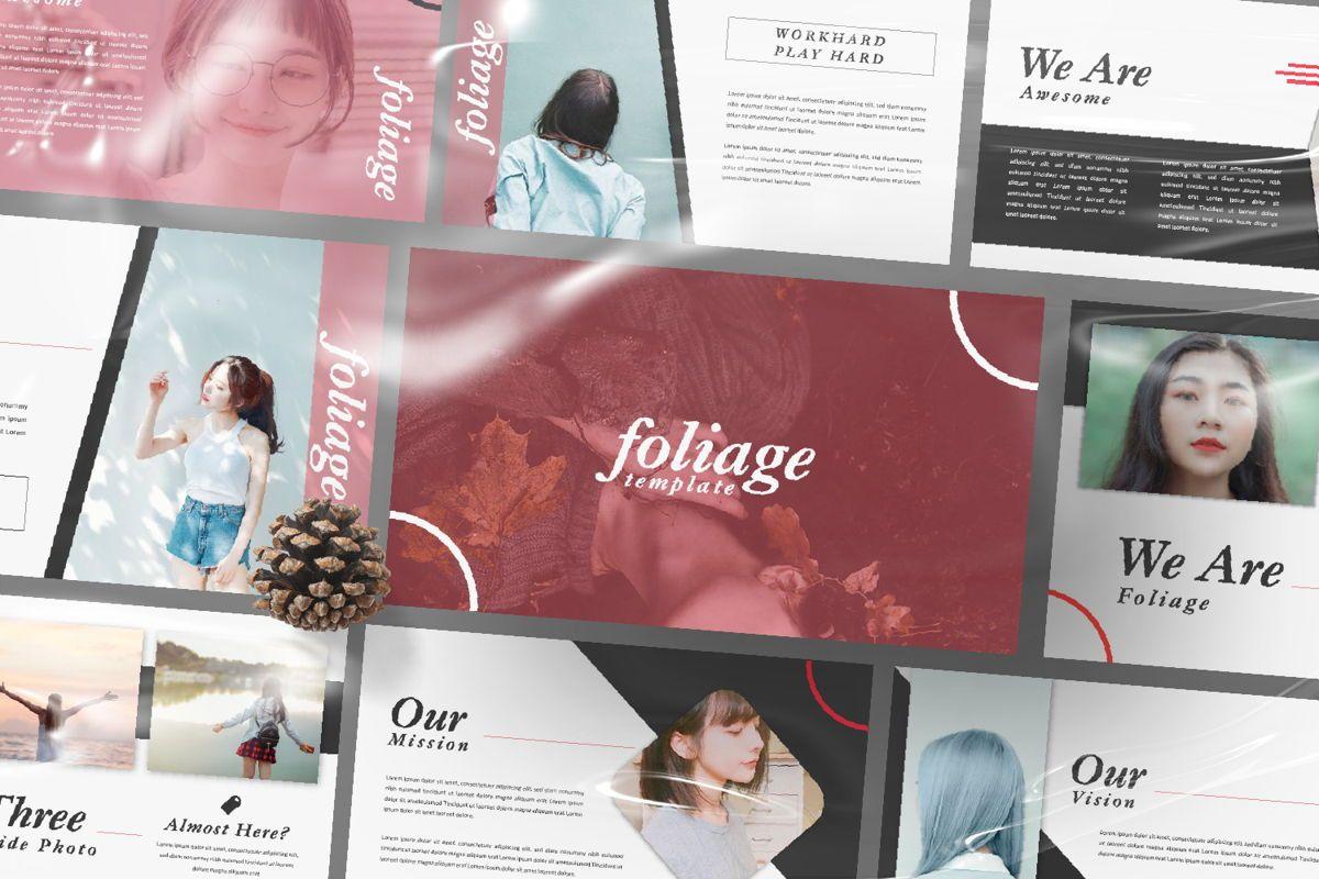 Foliage Business Google Slide, Slide 12, 06645, Presentation Templates — PoweredTemplate.com