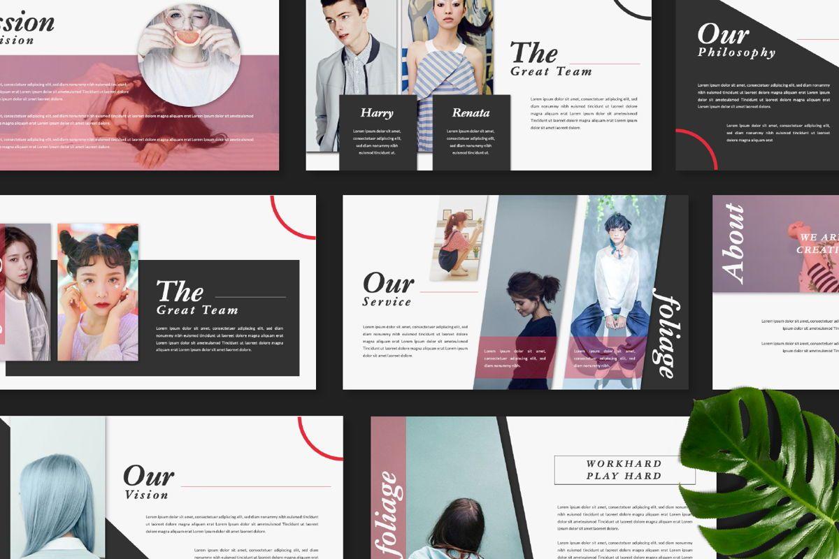 Foliage Business Google Slide, Slide 8, 06645, Presentation Templates — PoweredTemplate.com