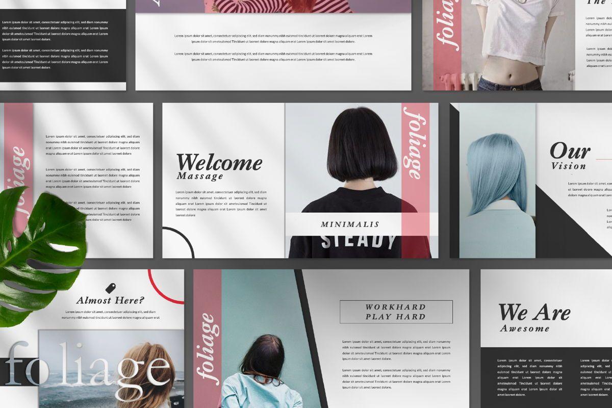 Foliage Business Google Slide, Slide 9, 06645, Presentation Templates — PoweredTemplate.com