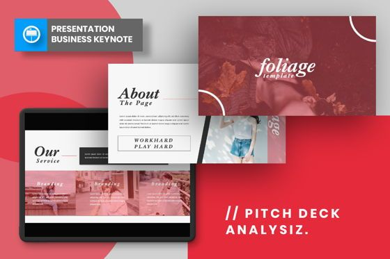 Presentation Templates: Foliage Business Keynote #06646