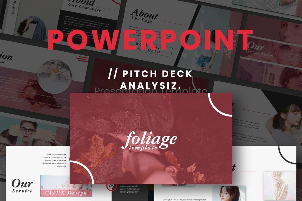 Foliage Business Powerpoint, 06647, Presentation Templates — PoweredTemplate.com