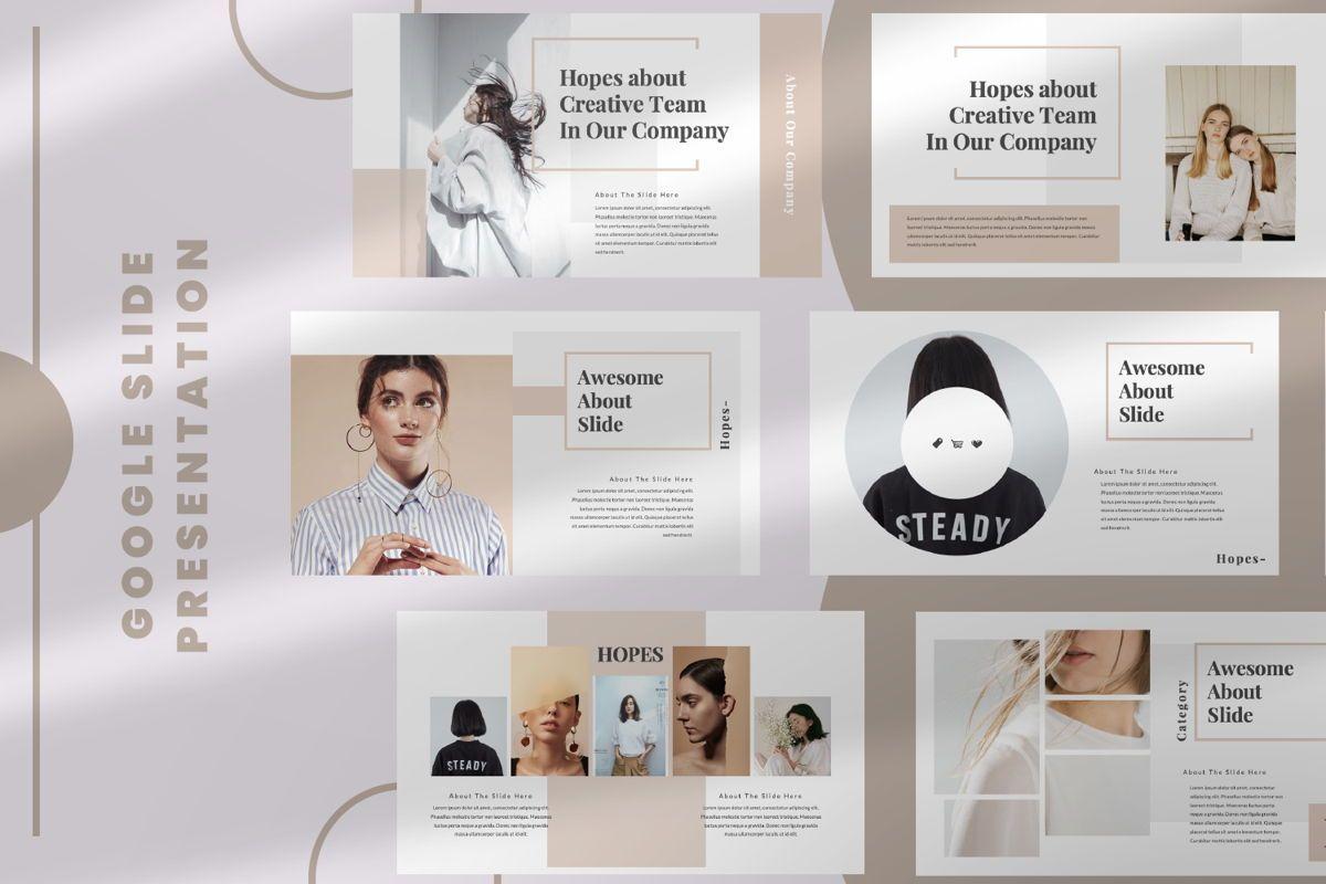 Hope Creative Google Slide, 06649, Presentation Templates — PoweredTemplate.com